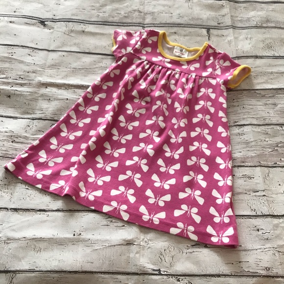 Hanna Andersson Other - Hanna Andersson Pink Butterfly Dress 100=4